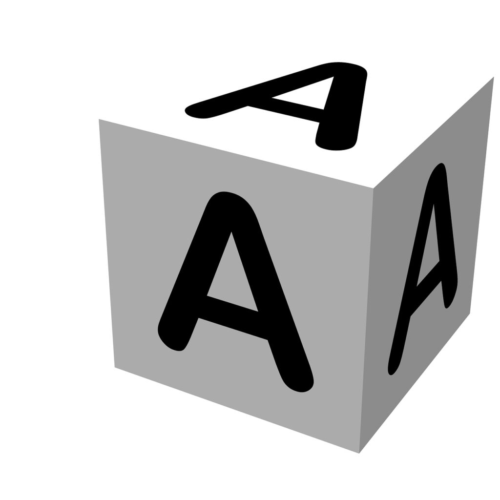letter, block, a